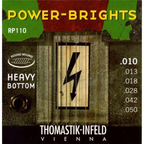 RP110 Power Bright 10-50 Electric Guitar Strings