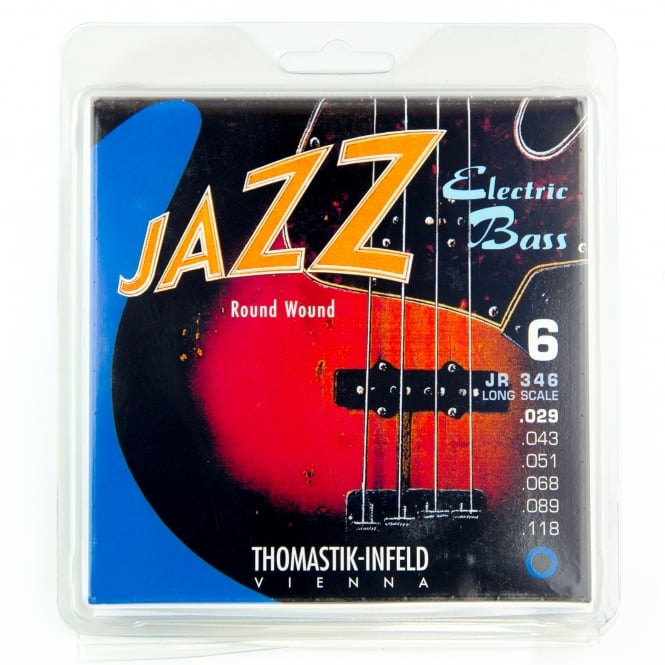 Thomastik JR346 Jazz Roundwound 6-String Bass Strings 29-118