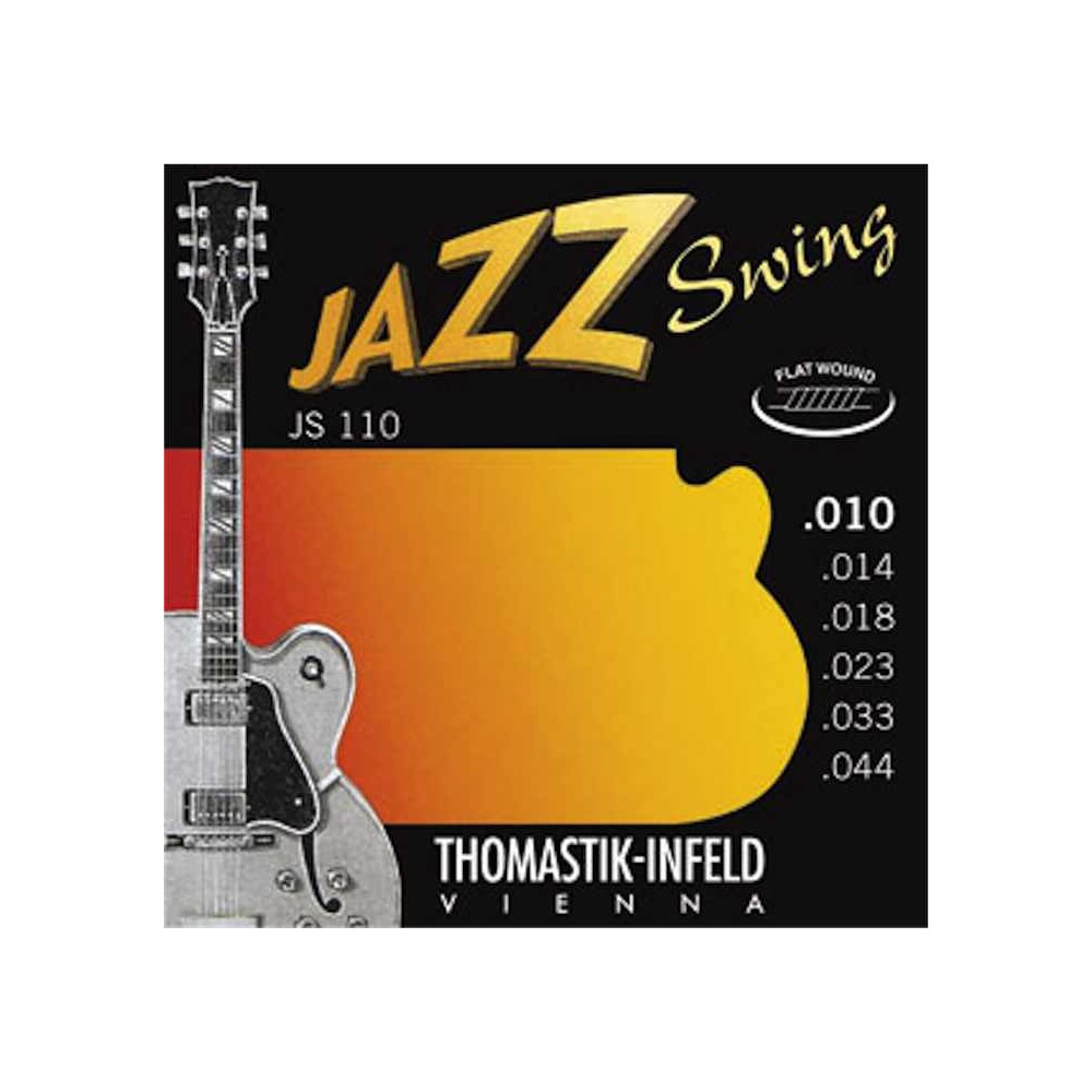 thomastik js110 jazz swing flatwound 10 44 electric guitar strings. Black Bedroom Furniture Sets. Home Design Ideas
