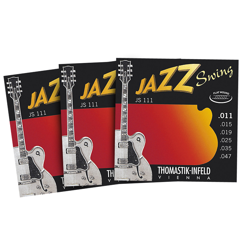 thomastik jazz swing flatwound 11 47 electric guitar strings 3 pack. Black Bedroom Furniture Sets. Home Design Ideas