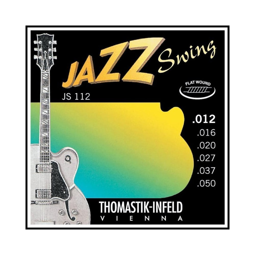 thomastik js112 jazz swing flatwound 12 50 electric guitar strings. Black Bedroom Furniture Sets. Home Design Ideas