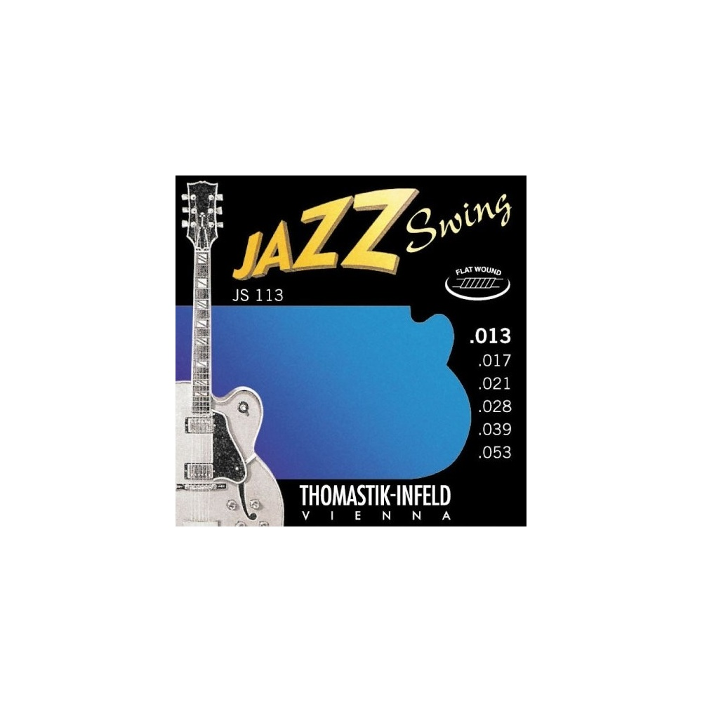 thomastik js113 jazz swing flatwound 13 53 electric guitar strings. Black Bedroom Furniture Sets. Home Design Ideas