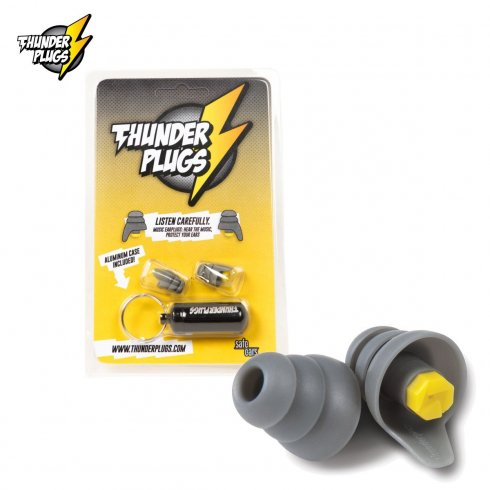 Thunderplugs TPB1 Grey Ear Protection Plugs with Carry Case