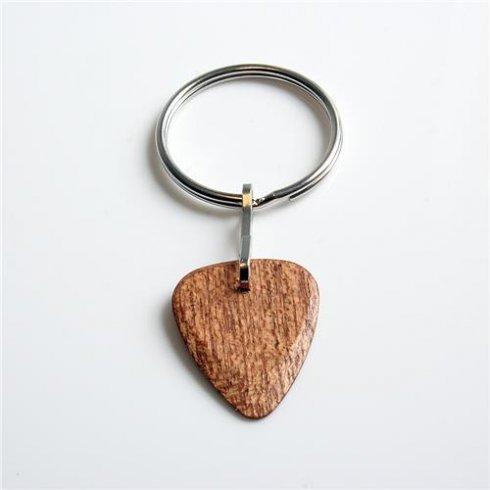 Timber Tones Exotic Wood Single Plectrum African Mahogany Key Ring
