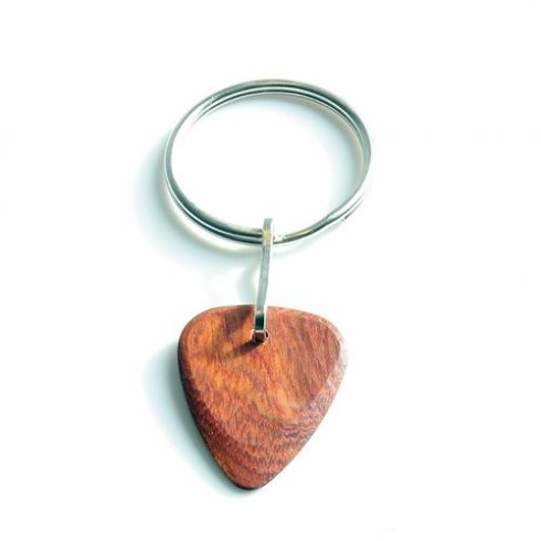 Timber Tones Exotic Wood Single Plectrum Bloodwood Key Ring