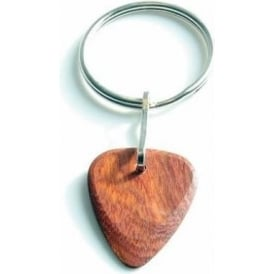 Timber Tones Exotic Wood Single Plectrum Bloodwood Key Ring