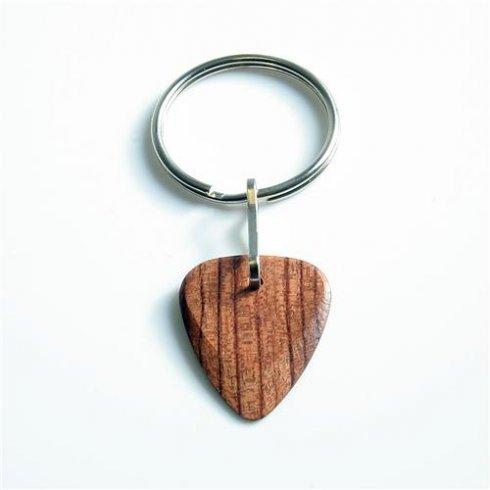 Timber Tones Exotic Wood Single Plectrum Bubinga Key Ring