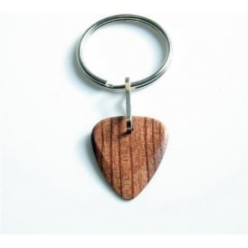 Timber Tones Exotic Wood Single Plectrum Bubinga Key Ring