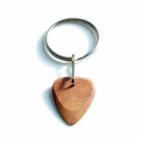 Timber Tones Exotic Wood Single Plectrum Jatoba Key Ring