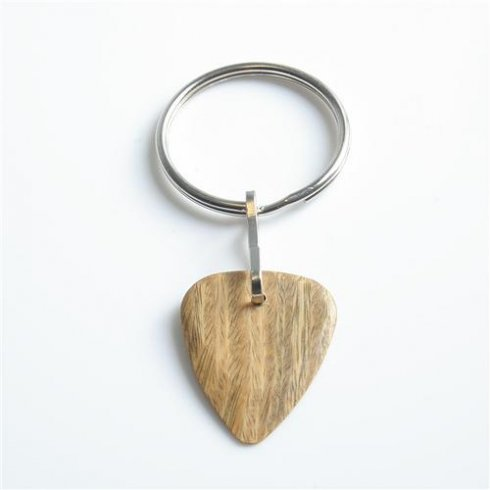 Exotic Wood Single Plectrum Lignum Vitae Key Ring