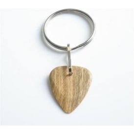 Timber Tones Exotic Wood Single Plectrum Lignum Vitae Key Ring