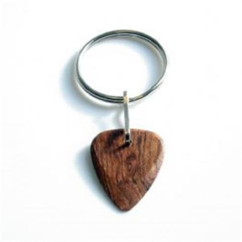 Timber Tones Exotic Wood Single Plectrum Mexican Cocobolo Key Ring