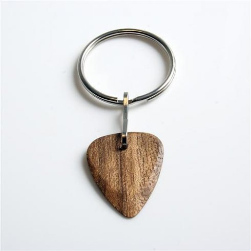 Timber Tones Exotic Wood Single Plectrum Ovangol Key Ring