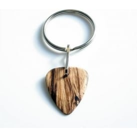 Timber Tones Exotic Wood Single Plectrum Zebrawood Key Ring
