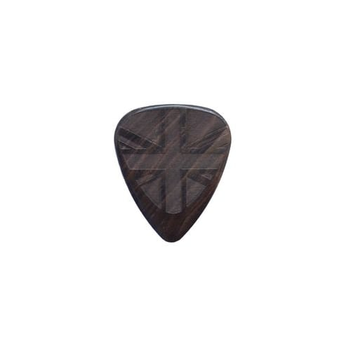 Timber Tones Flag Tones Union Jack African Ebony Single Guitar Plectrum
