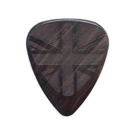 Timber Tones Flag Tones Union Jack African Ebony Single Guitar Plectrum