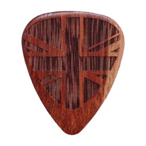 Timber Tones Flag Tones Union Jack Cobra Saffron Single Guitar Plectrum