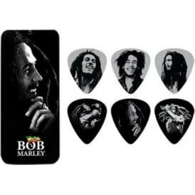 Jim Dunlop Bob Marley Silver Portrait Series Pick Tin Heavy