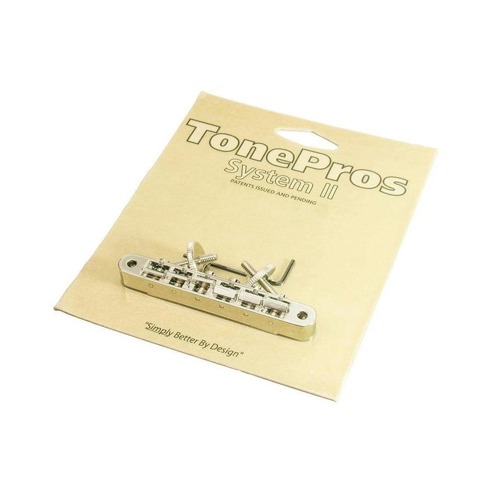 TonePros Tune-O-Matic ABR1 Bridge, Standard (US/Imperial) Thread, Nickel