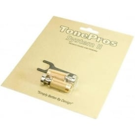 "TonePros Standard US Thread ""G"" Style Nickel Locking Studs for Electric Guitar SNS1-NKL"