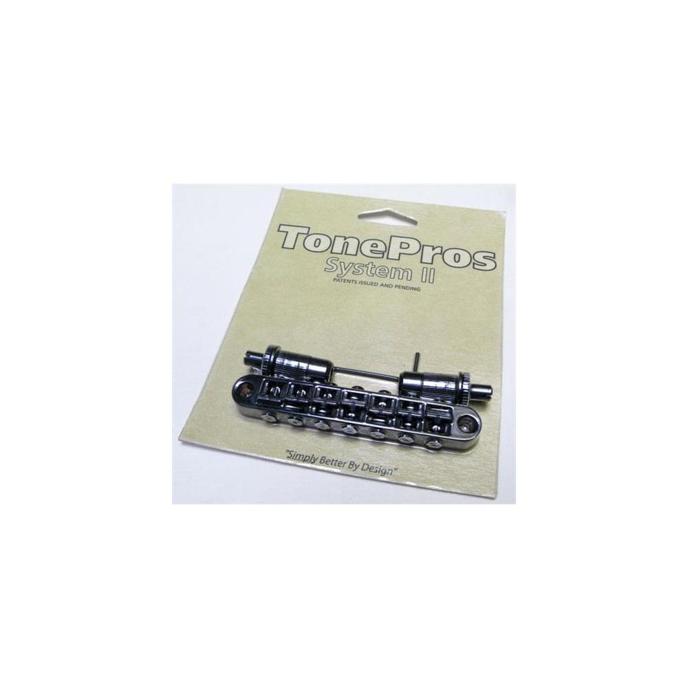 TonePros Tune-O-Matic Bridge, Metric Thread, 7-String, Black