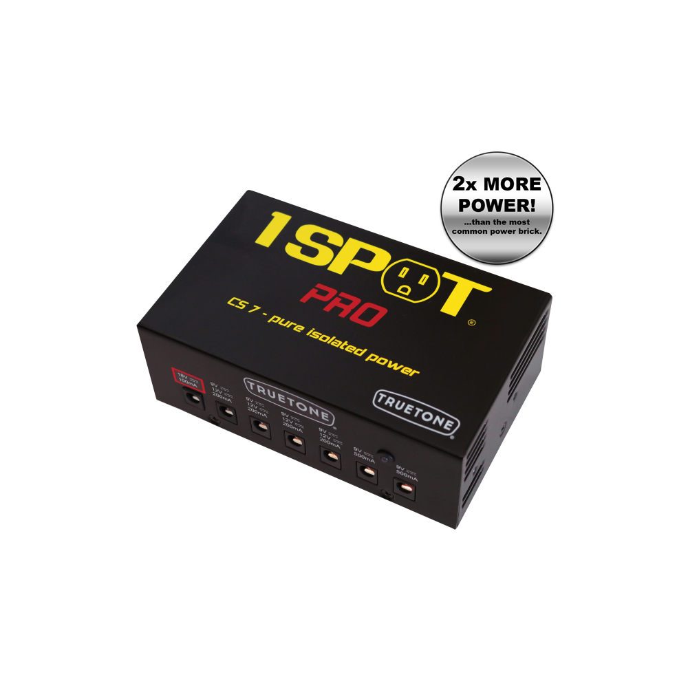 truetone 7 way power brick for powering guitar effects pedals. Black Bedroom Furniture Sets. Home Design Ideas