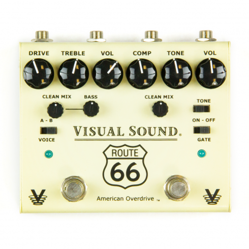Truetone V3 Route 66 Overdrive and Compressor Pedal