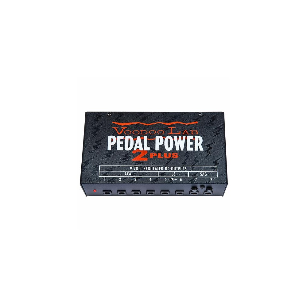 Voodoo Lab Pedal Power 2 Plus Universal Guitar and Bass Effects Power Supply