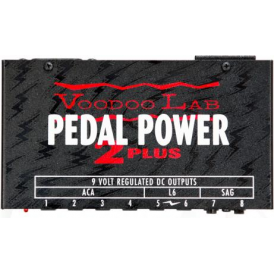 Voodoo Lab Pedal Power® 2 Plus Universal Guitar & Bass Effects DC Power Supply