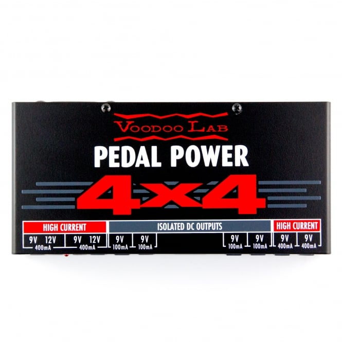 Voodoo Lab Pedal Power 4x4 Universal Guitar and Bass Effects Power Supply