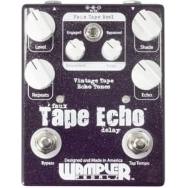 Wampler Faux Tape Echo Delay Pedal with Tap Tempo Pedal