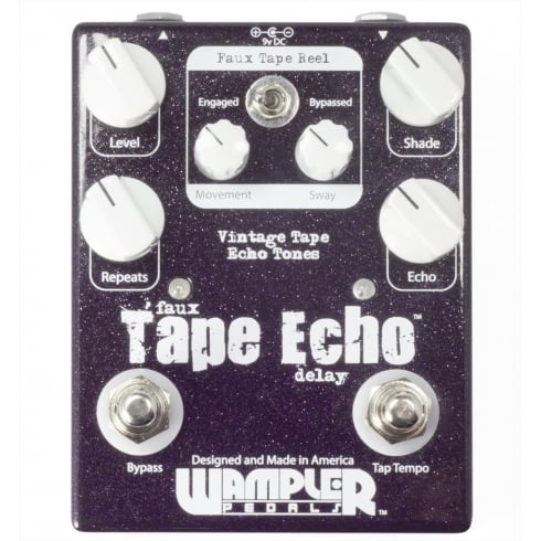 Wampler Faux Tape Echo Delay with Tap Tempo