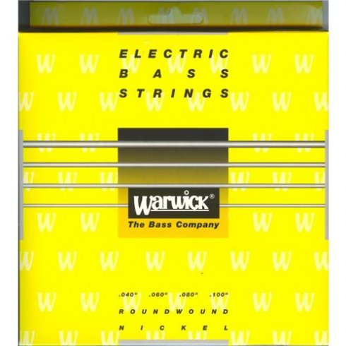 Warwick 4-String Yellow Label Nickel Wound 40-100 Long Scale Bass Strings
