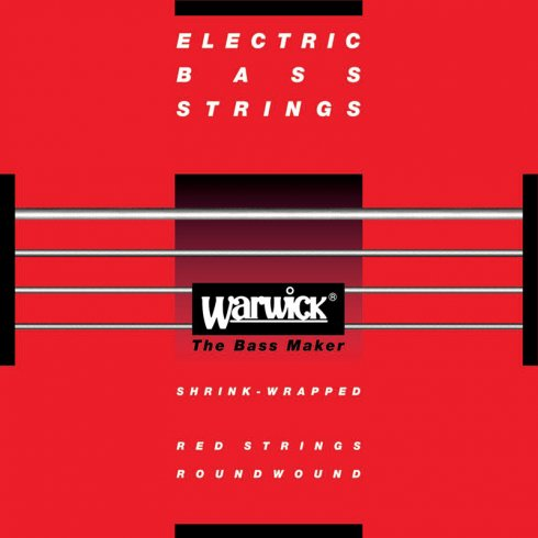 Warwick 40-100 4-String Stainless Steel Red Label Long Scale Bass Guitar Strings