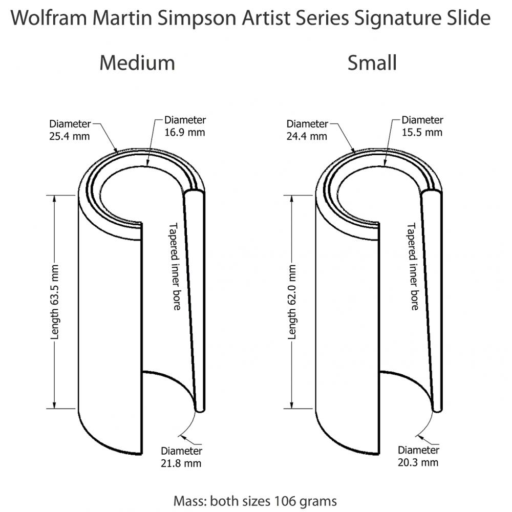 Guitar Slide Sizes : wolfram martin simpson artist series signature slide medium ~ Russianpoet.info Haus und Dekorationen