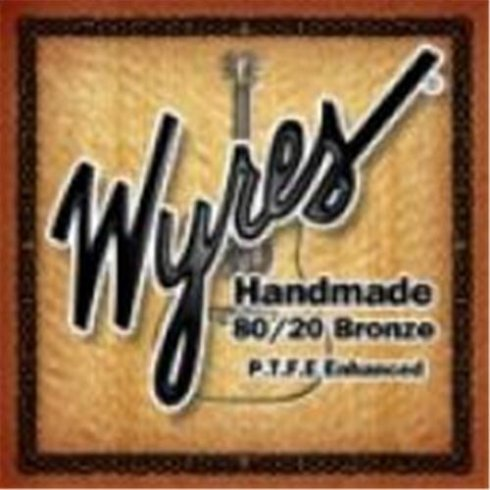 Wyres Handmade Teflon Coated 12-54 80/20 Bronze Acoustic Guitar Strings (formerly TB1254B)