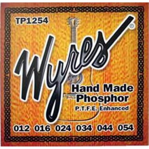 Wyres Handmade Teflon Coated 12-54 Phosphor Bronze Acoustic Guitar Strings
